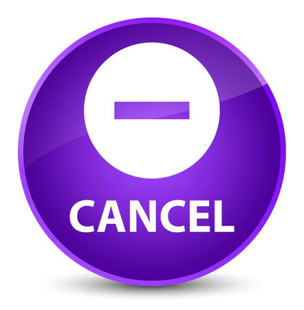 Cancel isolated on elegant purple round button abstract illustration