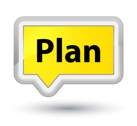 Plan isolated on prime yellow banner button abstract illustration