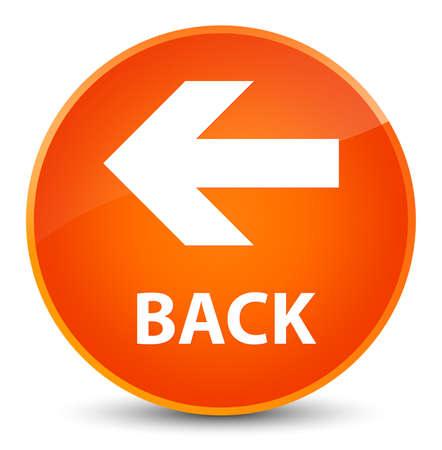 Back isolated on elegant orange round button abstract illustration