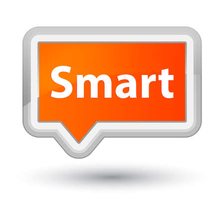 Smart isolated on prime orange banner button abstract illustration Imagens - 89597142