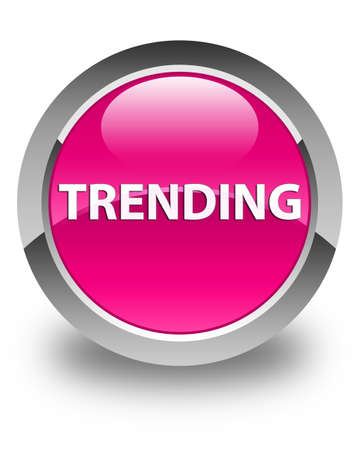 Trending isolated on glossy pink round button abstract illustration