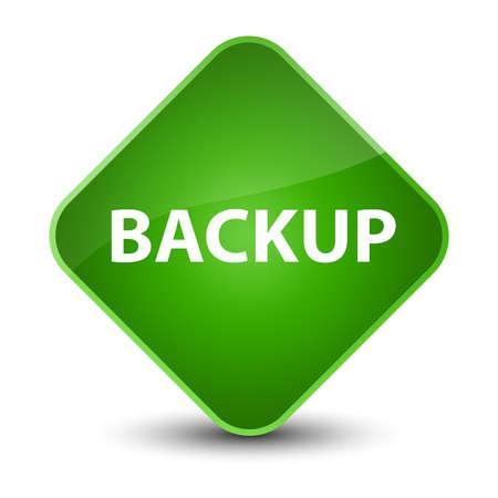 Backup isolated on elegant green diamond button abstract illustration