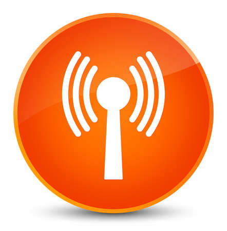 Wlan network icon isolated on elegant orange round button abstract illustration Stock Photo