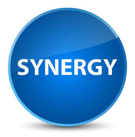 Synergie op elegante blauwe ronde knoop abstracte illustratie die wordt geïsoleerd