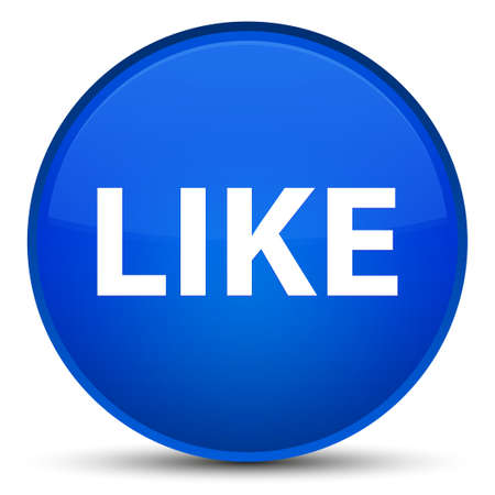 Like isolated on special blue round button abstract illustration Stock fotó