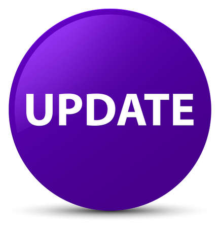Update isolated on purple round button abstract illustration