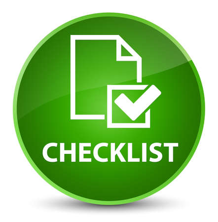 Checklist isolated on elegant green round button abstract illustration Stock Photo