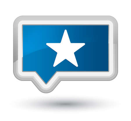 Star icon isolated on prime blue banner button abstract illustration