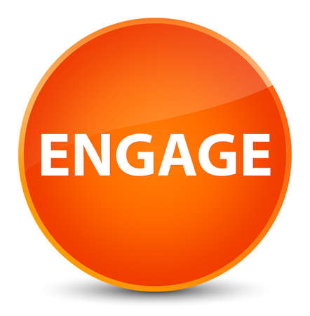 Engage isolated on elegant orange round button abstract illustration Banco de Imagens