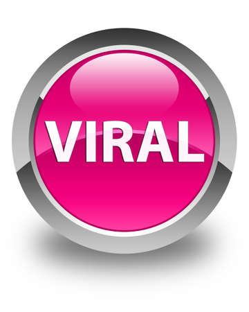 Viral isolated on glossy pink round button abstract illustration