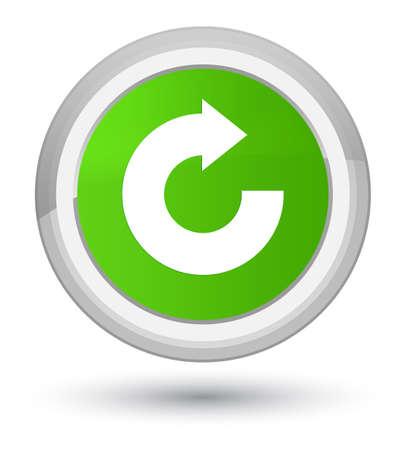 Antworten Sie die Pfeilikone, die auf erstklassiger weicher grüner runder Knopfzusammenfassungsillustration lokalisiert wird