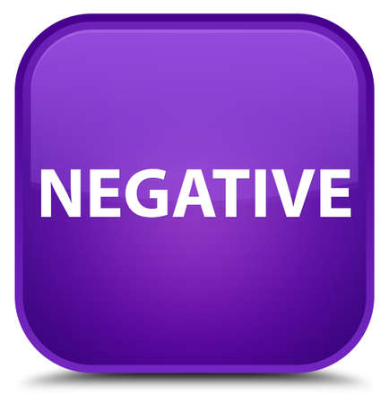 Negative isolated on special purple square button abstract illustration