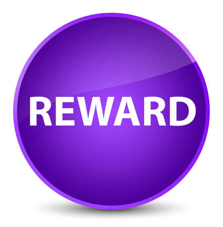 Reward isolated on elegant purple round button abstract illustration 版權商用圖片
