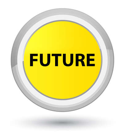 Future isolated on prime yellow round button abstract illustration Stock Photo