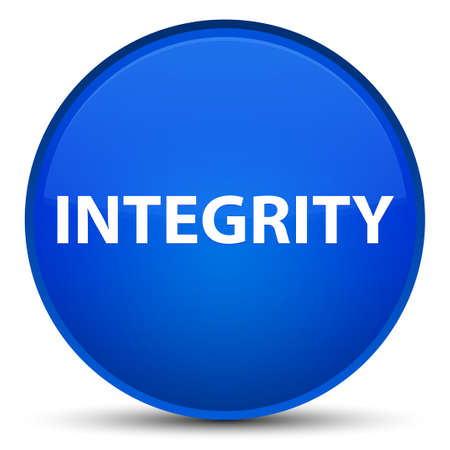 Integrity isolated on special blue round button abstract illustration Stock Photo