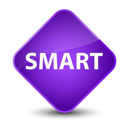 Smart isolated on elegant purple diamond button abstract illustration