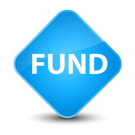 Fund isolated on elegant cyan blue diamond button abstract illustration Stock Photo