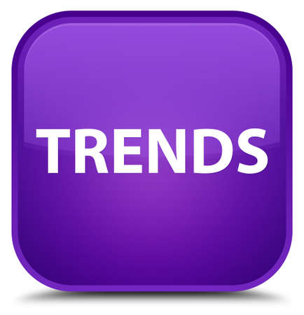 Trends isolated on special purple square button abstract illustration Stok Fotoğraf