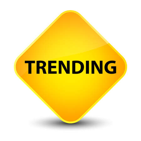 Trending isolated on elegant yellow diamond button abstract illustration