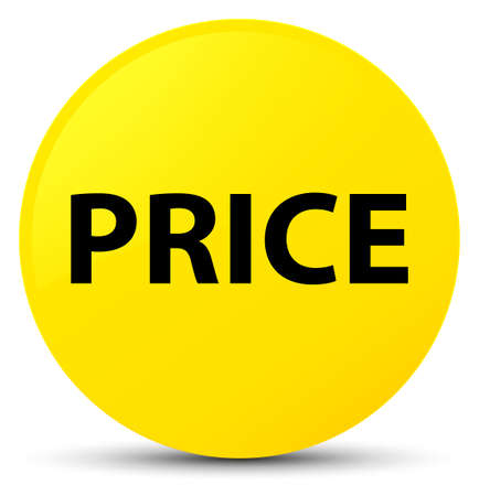Price isolated on yellow round button abstract illustration