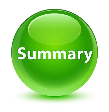Summary isolated on glassy green round button abstract illustration