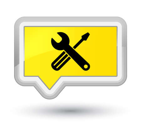 Tools icon isolated on prime yellow banner button abstract illustration