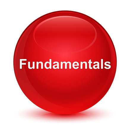 Fundamentals isolated on glassy red round button abstract illustration