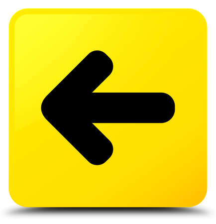 Back arrow icon isolated on yellow square button abstract illustration Stock Photo
