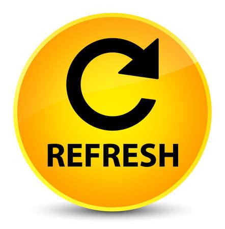 Refresh (rotate arrow icon) isolated on elegant yellow round button abstract illustration Stock Photo
