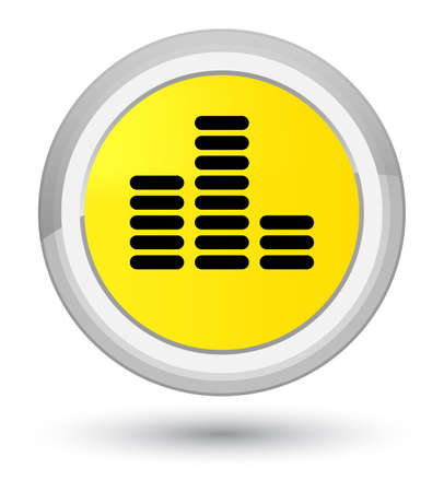 Equalizer icon isolated on prime yellow round button abstract illustration