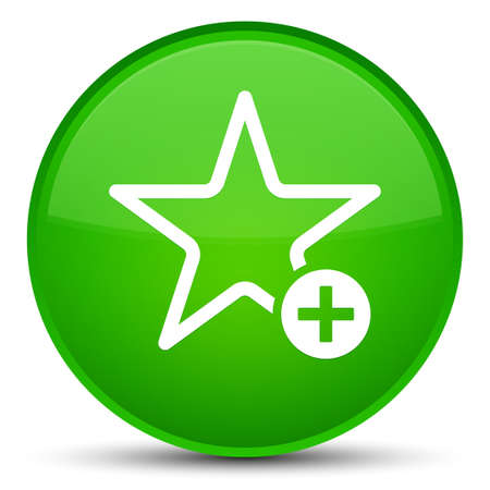 Add to favorite icon isolated on special green round button abstract illustration