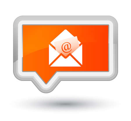 Newsletter email icon isolated on prime orange banner button abstract illustration Stock Photo