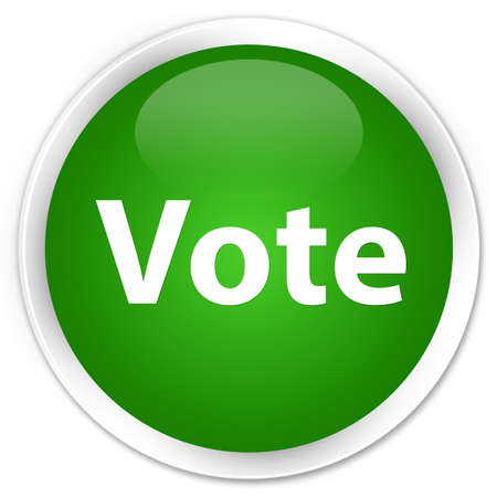 Vote isolated on premium green round button abstract illustration