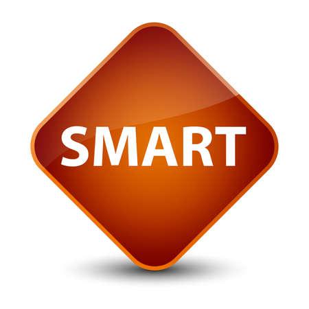 Smart isolated on elegant brown diamond button abstract illustration Imagens