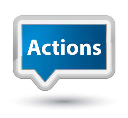 Actions isolated on prime blue banner button abstract illustration