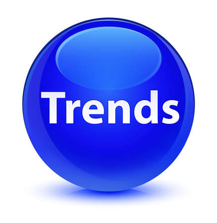 Trends isolated on glassy blue round button abstract illustration 스톡 콘텐츠