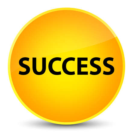 Success isolated on elegant yellow round button abstract illustration