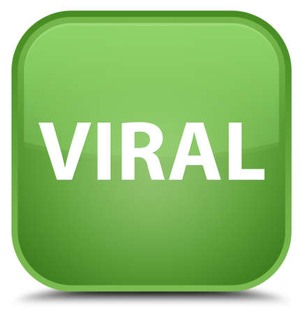 Viral isolated on special soft green square button abstract illustration