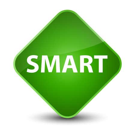 Smart isolated on elegant green diamond button abstract illustration Imagens - 89667251