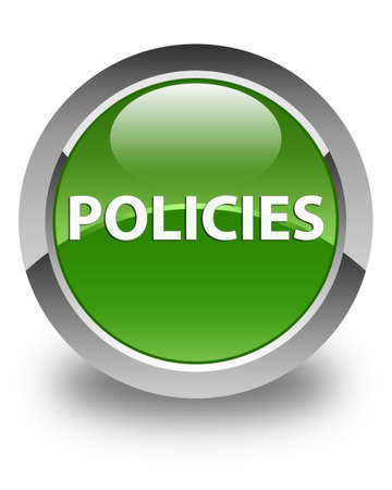 Policies isolated on glossy soft green round button abstract illustration