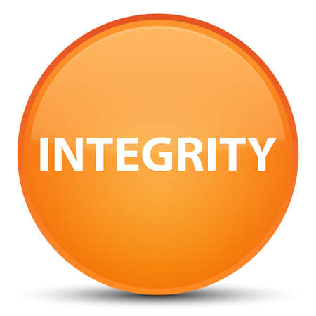 Integrity isolated on special orange round button abstract illustration