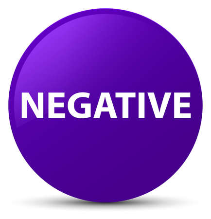 Negative isolated on purple round button abstract illustration