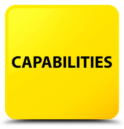 Capabilities isolated on yellow square button abstract illustration Stock Photo