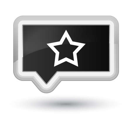 Star icon isolated on prime black banner button abstract illustration