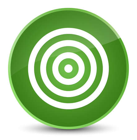 Target icon isolated on elegant soft green round button abstract illustration Stock Photo