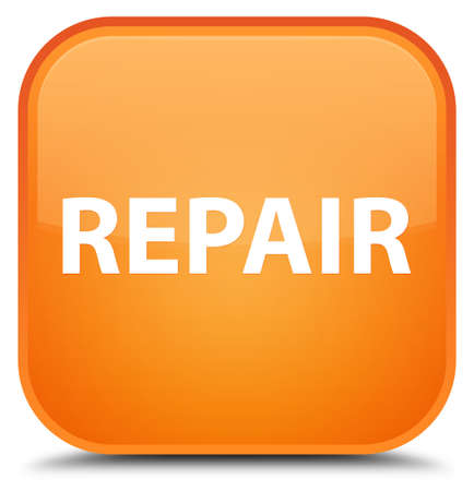 Repair isolated on special orange square button abstract illustration Stock Photo