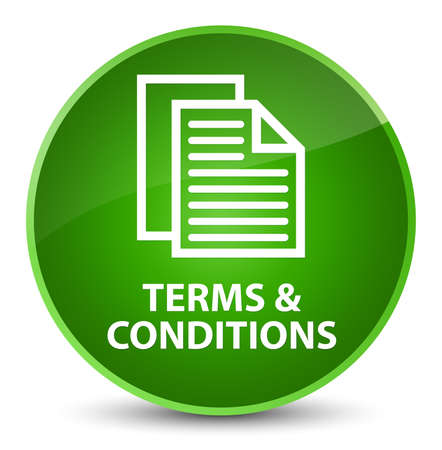 Terms and conditions (pages icon) isolated on elegant green round button abstract illustration