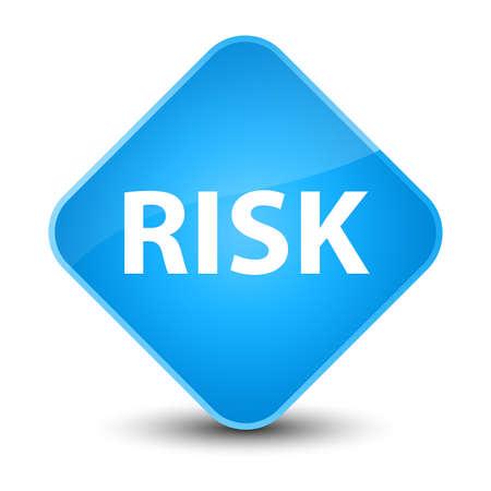Risk isolated on elegant cyan blue diamond button abstract illustration