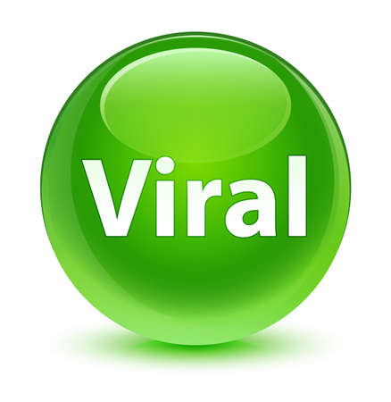 Viral isolated on glassy green round button abstract illustration Stock Photo