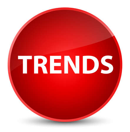 Trends isolated on elegant red round button abstract illustration 스톡 콘텐츠